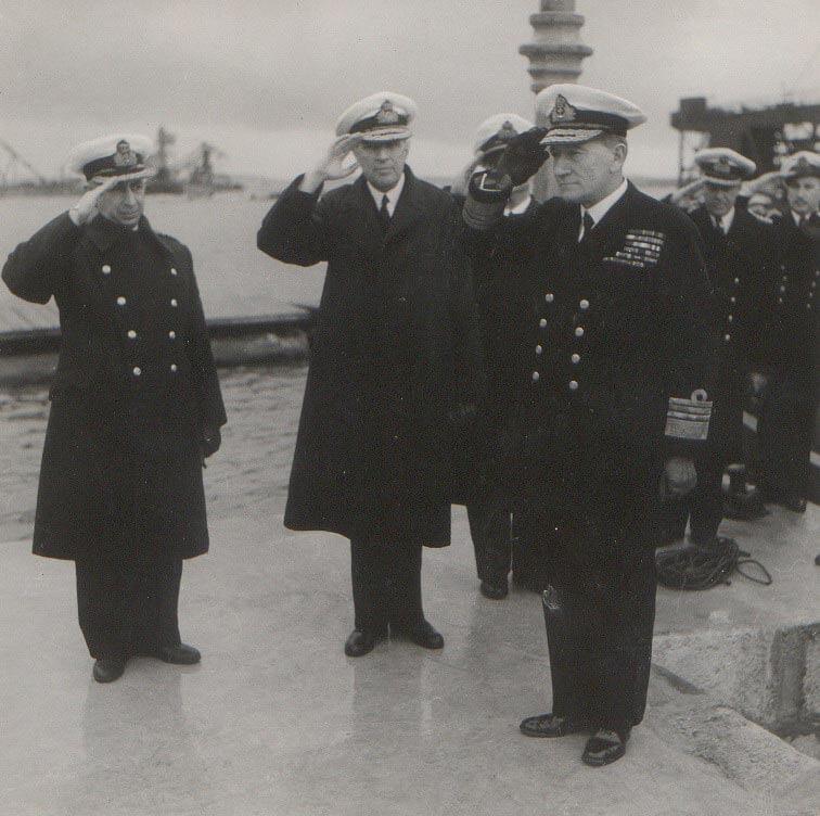 1945 Ναύαρχος Αρχηγός. Επίσκεψη Αρχηγού Βρεττανικού Στόλου Μεσογείου